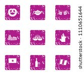 privilege icons set. grunge set ... | Shutterstock .eps vector #1110651644