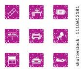 plank icons set. grunge set of... | Shutterstock .eps vector #1110652181