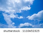 blue sky and cloud beautiful in ... | Shutterstock . vector #1110652325