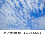 blue sky and cloud beautiful in ... | Shutterstock . vector #1110652331