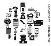 mortgage icons set. simple set... | Shutterstock .eps vector #1110654089