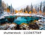 fantastic blue geyser lake in...   Shutterstock . vector #1110657569