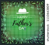 happy father's day greeting...   Shutterstock .eps vector #1110663809