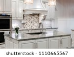 white farmhouse kitchen | Shutterstock . vector #1110665567