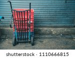 image of sack trolley curve ... | Shutterstock . vector #1110666815