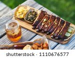 st louis style bbq ribs with... | Shutterstock . vector #1110676577