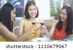 happy young asian female...   Shutterstock . vector #1110679067