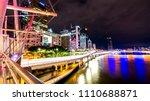 brisbane city at night long... | Shutterstock . vector #1110688871