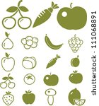 green food   vegetables icons... | Shutterstock .eps vector #111068891