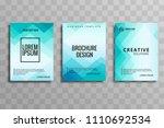 beautiful blue business... | Shutterstock .eps vector #1110692534