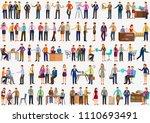 vector illustration of set of... | Shutterstock .eps vector #1110693491