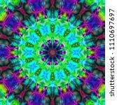 psychedelic art. decorative... | Shutterstock . vector #1110697697