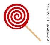 red swirl lollipop sucker or... | Shutterstock .eps vector #1110707129