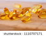 close up vitamin d and omega 3... | Shutterstock . vector #1110707171