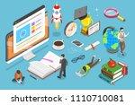flat isometric concept of... | Shutterstock . vector #1110710081