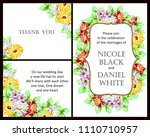 invitation with floral... | Shutterstock . vector #1110710957