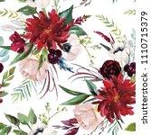 watercolor seamless pattern.... | Shutterstock . vector #1110715379
