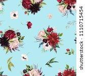 watercolor seamless pattern.... | Shutterstock . vector #1110715454