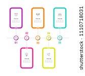 simple business info graphics | Shutterstock .eps vector #1110718031