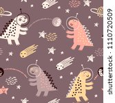 childish seamless pattern with... | Shutterstock .eps vector #1110720509