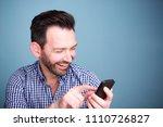 close up portrait of happy man... | Shutterstock . vector #1110726827