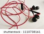 obsolete entangled earphones    Shutterstock . vector #1110738161