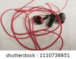 obsolete entangled earphones    Shutterstock . vector #1110738851