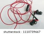 obsolete entangled earphones    Shutterstock . vector #1110739667