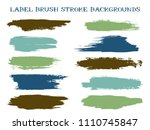 textured label brush stroke... | Shutterstock .eps vector #1110745847