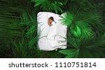 a hidden place. sleeping woman... | Shutterstock . vector #1110751814