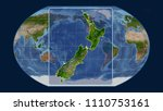 zoomed in view of new zealand... | Shutterstock . vector #1110753161