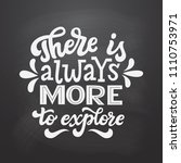 there is always more to explore.... | Shutterstock .eps vector #1110753971