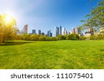 Central Park At Sunny Day  New...