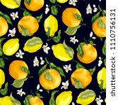 juicy citrus fruits in a...   Shutterstock .eps vector #1110756131