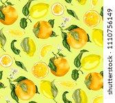 juicy citrus fruits in a...   Shutterstock .eps vector #1110756149