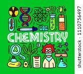 chemistry. subject concept...   Shutterstock .eps vector #1110756497