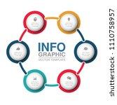 vector infographic template for ... | Shutterstock .eps vector #1110758957