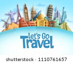 travel destination vector... | Shutterstock .eps vector #1110761657