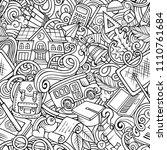 cartoon cute doodles hand drawn ...   Shutterstock .eps vector #1110761684