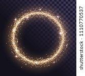 round glitter frame of gold... | Shutterstock .eps vector #1110770537