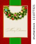 abstract beauty christmas and... | Shutterstock .eps vector #111077321