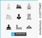 monument icon. collection of 9... | Shutterstock .eps vector #1110775685