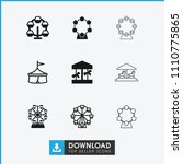 amusement icon. collection of 9 ... | Shutterstock .eps vector #1110775865