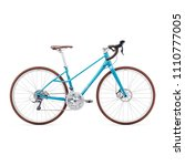 blue racing bicycle isolated on ...   Shutterstock . vector #1110777005