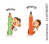opposite sharp and blunt vector ... | Shutterstock .eps vector #1110780407