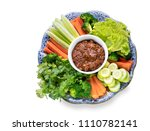 Stock photo nam prik pla ra thailand chilli paste isolated on white background with clipping path 1110782141
