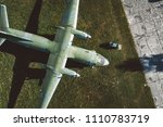 above drone view onmilitary...   Shutterstock . vector #1110783719