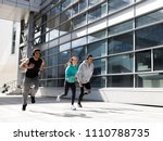 three young athletes train in... | Shutterstock . vector #1110788735