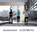 young athletes train in the... | Shutterstock . vector #1110788741