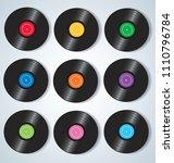 vinyl records music background... | Shutterstock .eps vector #1110796784